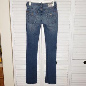 True Religion Flap Pocket Slim Straight Jeans Sz24